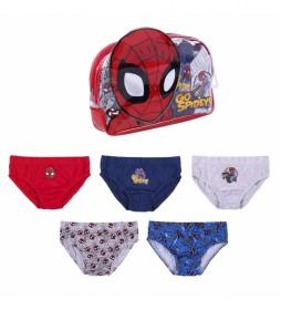 Pack 5 Calzoncillos  Spiderman multicolor