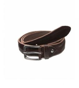 Cinturón de piel CIST21803MAN marrón oscuro