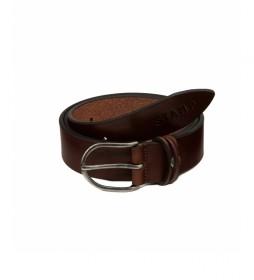 Cinturón de piel  CIST21804MAX marrón oscuro