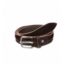 Cinturón de piel CIST21808MAX marrón oscuro