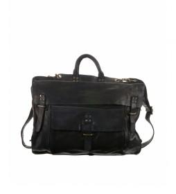 Maletín de piel convertible en mochila BHST00101NE negro -30x42x10cm-