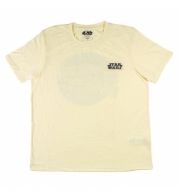 Camiseta Corta Premium Punto Single Jersey Star Wars beige