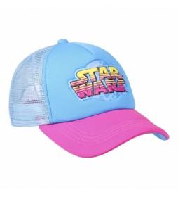 Gorra Premium Star Wars azul, rosa