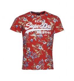 Camiseta con Estampado Integral y Vintage Logo rojo