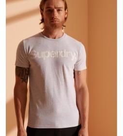 Camiseta con Logo Core gris