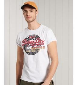 Camiseta de Gramaje Estándar Vintage Logo Itago gris claro