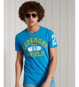Camiseta Gráfica Ligera Track & Field azul claro