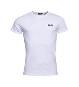 Camiseta Vintage Bordada de Algodón Orgánico blanco