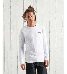 Camiseta Vintage Bordado de Algodón Orgánico blanco