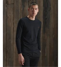 Camiseta Vintage Bordado de Algodón Orgánico negro