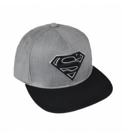 Gorra visera plana Superman gris