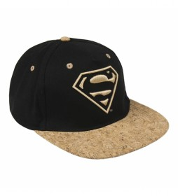 Gorra visera plana Superman negro