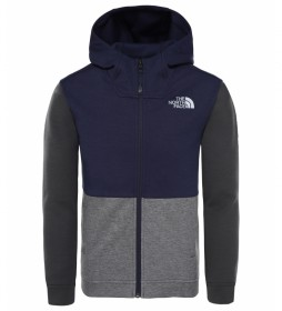 The North Face Sudadera Slacker azul / FlashDry