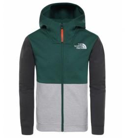 The North Face Sweatshirt Slacker green / FlashDry