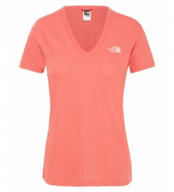 The North Face Simple Dome coral t-shirt