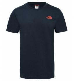 The North Face Camiseta Simple Dome marino, rojo
