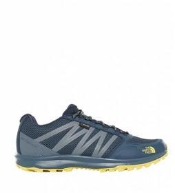 The North Face Zapatillas Litewave Fastpack Mid GTX  azul, amarillo