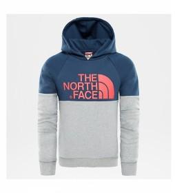 The North Face Sudadera Drew Peak gris, azul