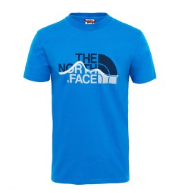 The North Face Mountain Line blue t-shirt