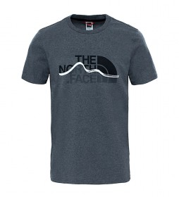 The North Face T-shirt Mountain Line grey