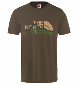 The North Face T-shirt mountain line taupe