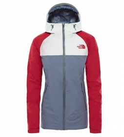 The North Face Chaqueta Stratos Mujer gris, rojo / DryVent