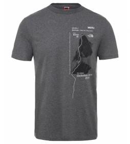 The North Face T-shirt cinzenta Celebr