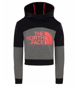 The North Face Short sweatshirt black, grey