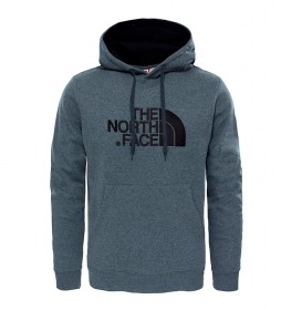 The North Face Drew Peak cotton sweatshirt gray, black