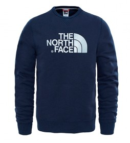 The North Face Sudadera de algodón Drew Peak marino, gris