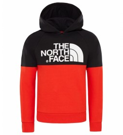 The North Face Drew Peak sweatshirt black, red