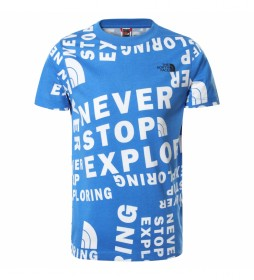 Camiseta Simple Dome Manga Corta azul