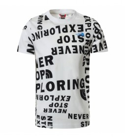 Camiseta Simple Dome Manga Corta blanco, negro