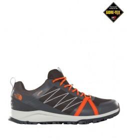 The North Face Zapatillas de senderismo Litewave Fastpack II gris, naranja / Gore-Tex