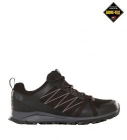 The North Face Zapatillas de senderismo Litewave Fastpack II negro, gris / Gore-Tex