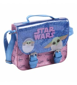 Bolso Bandolera Polipiel Star Wars azul, rosa - 18.5x16.5x5.3cm-