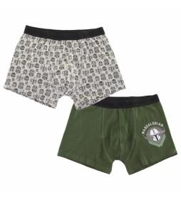 Pack de 2 Boxer 2 The Mandalorian verde