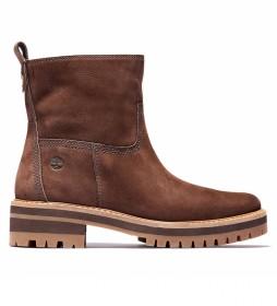 Botines de piel Courmayeur Valley Faux Fur marrón