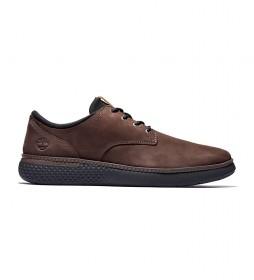 Zapatillas de piel Cross Mark PT Oxford marrón / OrthoLite / Rebotl