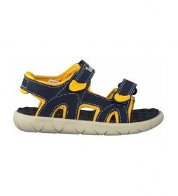 Sandalias Perkins Row 2-Strap marino, amarillo