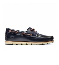 Zapatos Náuticos de piel Tidelands Classic 2 Eye marino