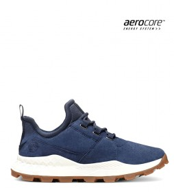 Timberland Oxford Brooklyn leather sneakers blue