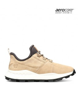 Timberland Oxford Brooklyn leather sneakers beige