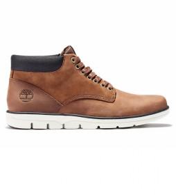 Zapatillas altas de piel Bradstreet Chukka marrón oscuro