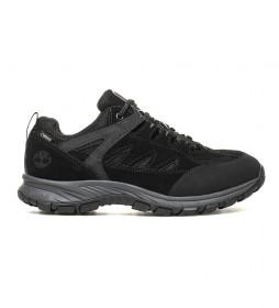 Timberland Zapatillas de piel Salder Pass Low negro / GoreTex