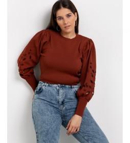 Jersey cuello redondo marrón