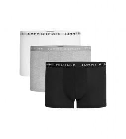 Pack de 3 Boxers Trunk Essentials con Logo negro, gris, blanco