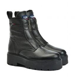 Botas de piel Warmlined Zipper negro -Altura plataforma: 5,4cm-