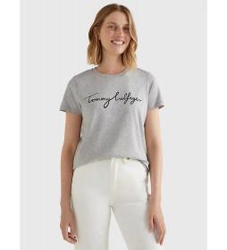 Camiseta Heritage Crew Neck Graphic gris