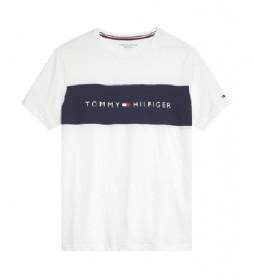 Camiseta CN SS Logo Flag blanco